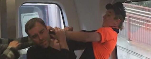 Racist attack on Melbourne train. Fairfax Media