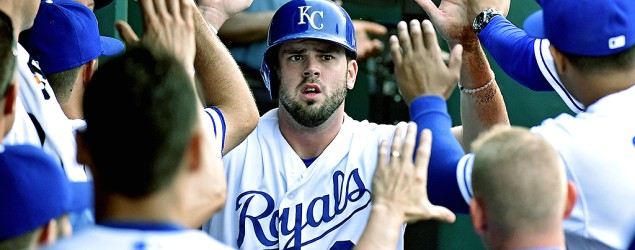 Mike Moustakas is one of five Royals players who would be starters in the All-Star Game if voting ended today. (Getty Images)