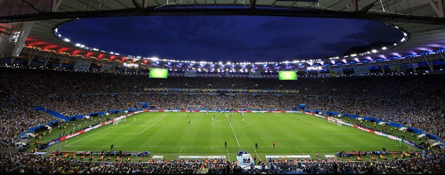 The Maracanã  Stadium during the FIFA World Cup final between Germany and Argentina in Rio de Janeiro, Brazil, Sunday, July 13, 2014. (Hassan Ammar/AP)