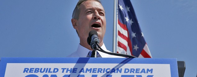 Former Maryland Gov. Martin O'Malley announces his 2016 presidential bid in Baltimore. (Jim Bourg/Reuters)