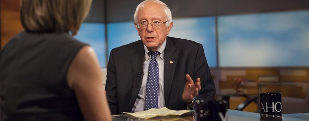 Bernie Sanders talks to Katie Couric. (Yahoo News)
