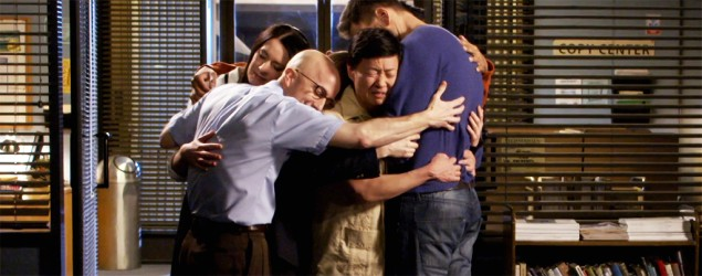 The cast of 'Community' in the Season 6 finale on Yahoo Screen. (Yahoo Screen)