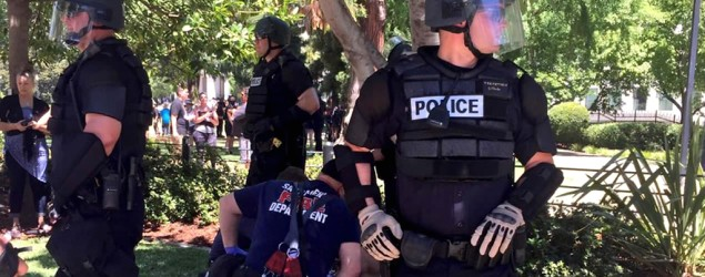 At least seven people were stabbed, two with life-threatening injuries, at a political rally in Sacramento, Calif. (WABC-NY)