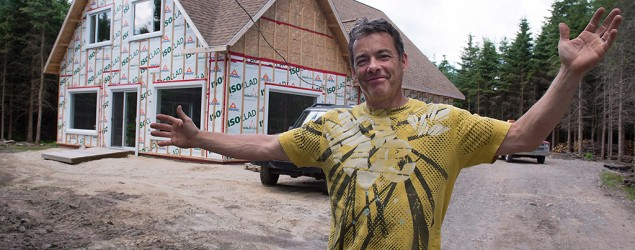 Christian Martin stands on the land the municipality has given him and where he is building a home, Friday, June 26, 2015 in Saint-Louis-de-Blandford Que. (THE CANADIAN PRESS/Jacques Boissinot)