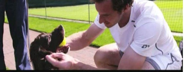 Andy Murray and a sniffer dog (WWF)