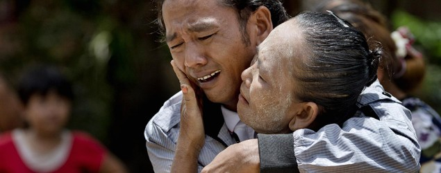 Myanmar fisherman goes home after 22 years as a slave. (Gemunu Amarasinghe/AP)