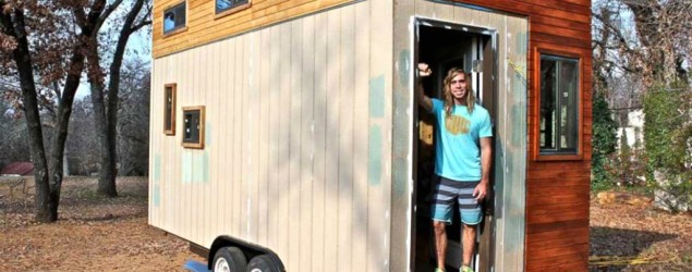 In an effort to save on rent while attending the University of Texas, Joel Weber built a 145-square-foot home. (Joel Weber)