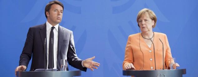 Matteo Renzi e Angela Merkel (Lapresse)