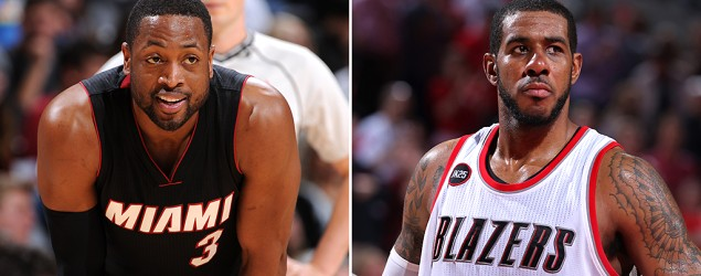 Dwyane Wade and LaMarcus Aldridge make news on Day 2 of NBA free agency. (Getty Images)