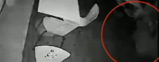 Ghost spotted on CCTV.
