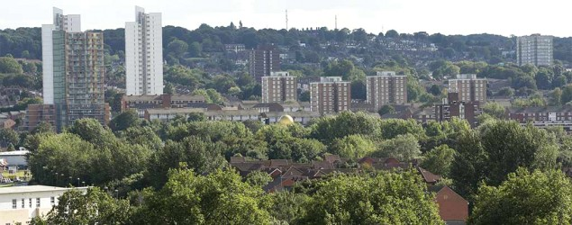 View of council estate in south London (PA)