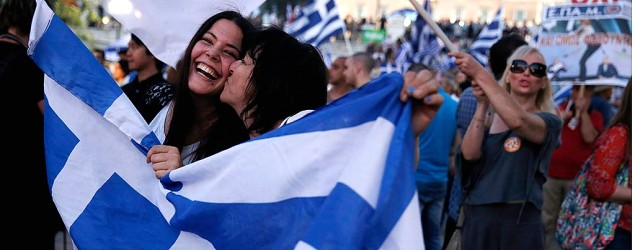 Greek women celebrating (PA)