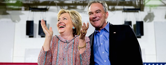 Hillary Clinton names her vice presidential running mate. (AP)
