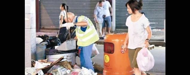 細口垃圾桶面世一月 廢物丟通街