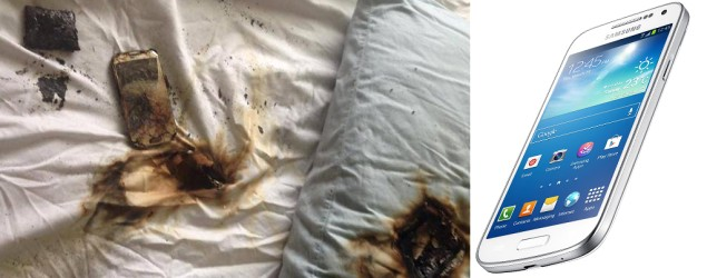 Girl's phone burns up in her bed