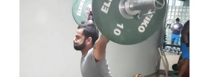 Virat Kohli's weightlifting session can put Salman to shame