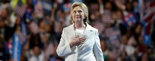 Hillary Clinton accepts Democratic presidential nomination. (Reuters)