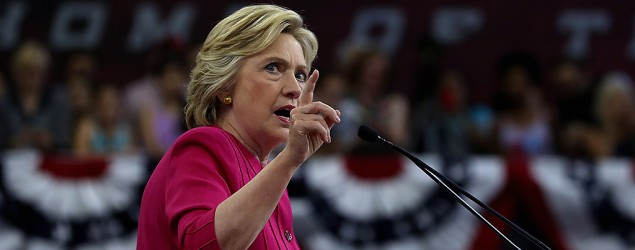 Hillary Clinton campaigns in Philadelphia. (Getty Images)