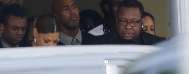 Family feud evident at Bobbi Kristina funeral. (AP)