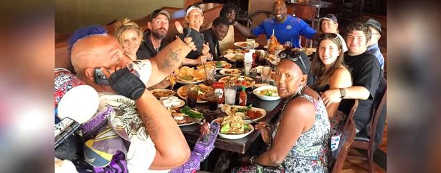 WWE wrestler treats homeless to fine meals. (Instagram)