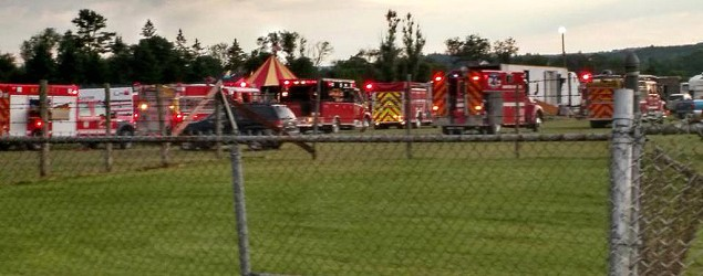 Deadly tent collapse in New Hampshire. (Sebastian Fuentes via AP)