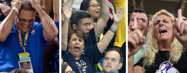 Photos: Olympic parents freak out seeing kids compete