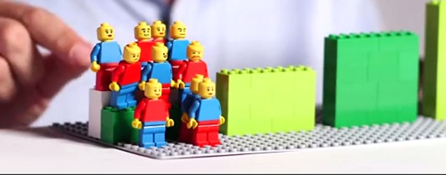 The dying American dream, as shown with Legos