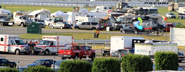 IndyCar driver suffers head injury during race at Pocono Raceway. (Reuters)