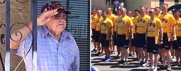 "Tribute to WWII vet goes viral when group sings 'Anchors Aweigh' (""GMA"")"