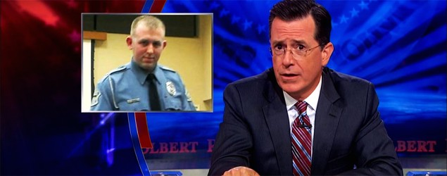 "Colbert turns the tables on Ferguson reporters. (""The Daily Show"" on Yahoo)"