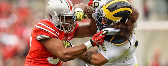 OSU and Michigan players. (Getty Images)