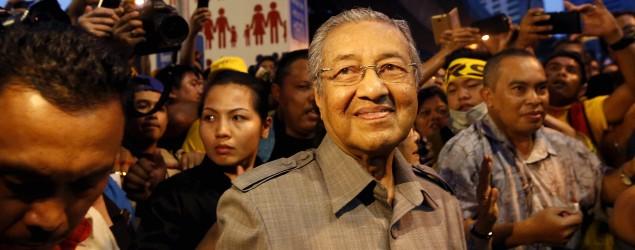 Mahathir and wife attends Bersih 4