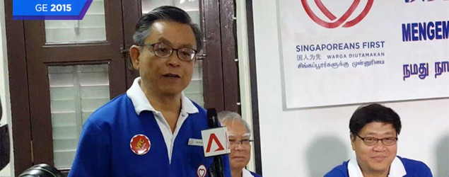 GE2015: SingFirst Tan JS: Goh CT is an overstayer