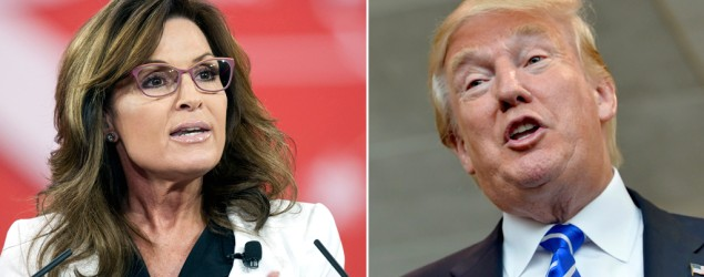Trump, Palin engage in political love fest. (AP)