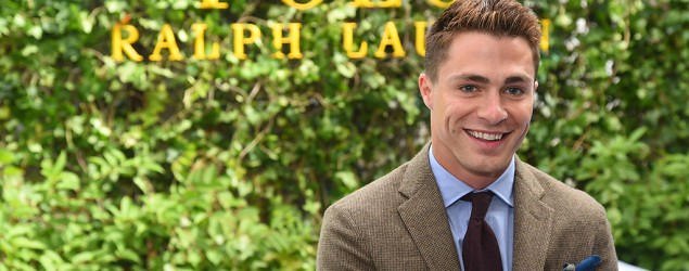 Colton Haynes gets emotional during speech (Getty)