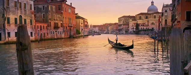A sunset gondola ride in Venice is now a cool thing that's much more affordable for people traveling to Europe. (Thinkstock)