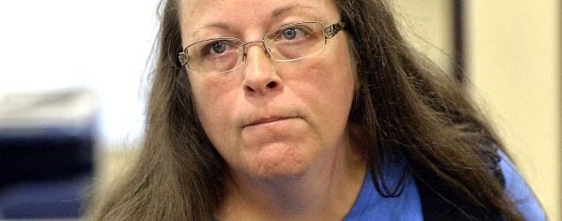 Kentucky clerk ordered to jail over marriage stance. (AP)