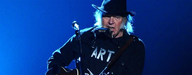 Neil Young performs at the 2015 MusiCares Person of the Year show at the Los Angeles Convention Center. (AP)