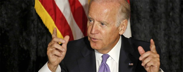 Vice President Joe Biden speaks at a meeting with Jewish community leaders in Davie, Fla. (Joe Skipper/Reuters)