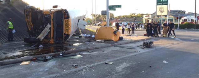 2 students dead in Houston school bus accident. (AP)