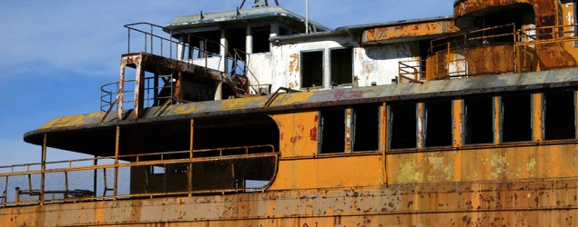 Cold and eerie ferryboat awaits final voyage