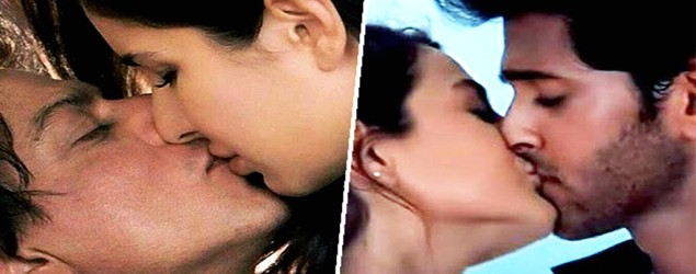 Top stars and their first onscreen kissing moment