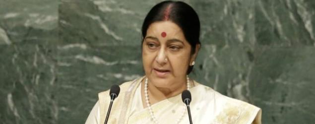Stop dreaming about Kashmir: Sushma slams Pakistan