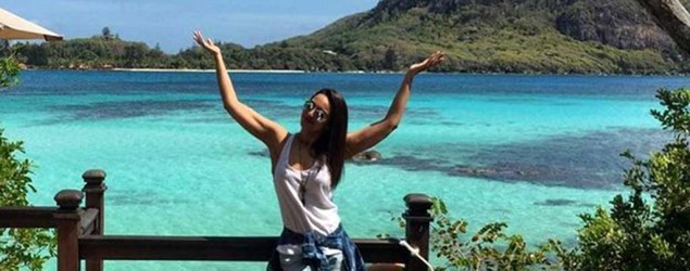 Sonakshi is holidaying in Seychelles after 'Akira' and 'Force 2'
