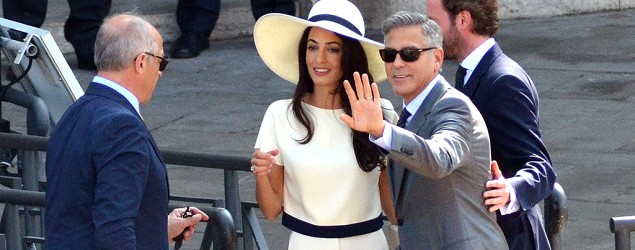 George Clooney, Amal Alamuddin make it official. (AP)