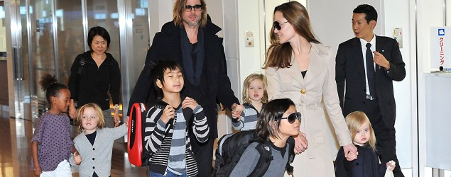 Angelina Jolie, Brad Pitt and their children (Jun Sato/Getty Images)
