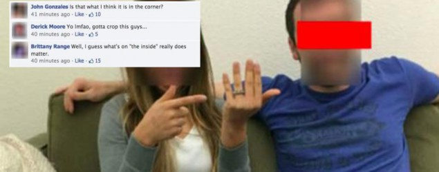 Couple Release A Bit TOO Much Information On Their Facebook Engagement Photo (Yahoo News)