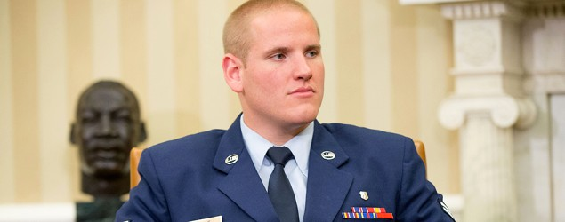 Spencer Stone following the attack on a French train which he helped foil. (Reuters)