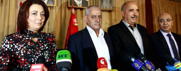 Members of Tunisia's National Dialogue Quartet. (Reuters)