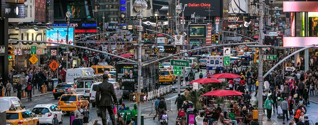 More than half of the world's people now reside in megacities such as New York. (Getty Images)